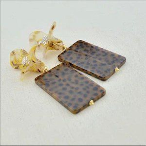 NWT Anthro Lele Sadoughi Brown Floral earrings